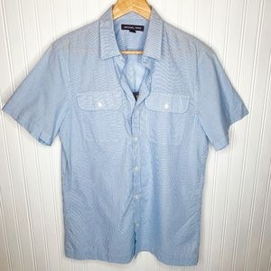 Michael Kors Button Down Short Sleeve Shirt